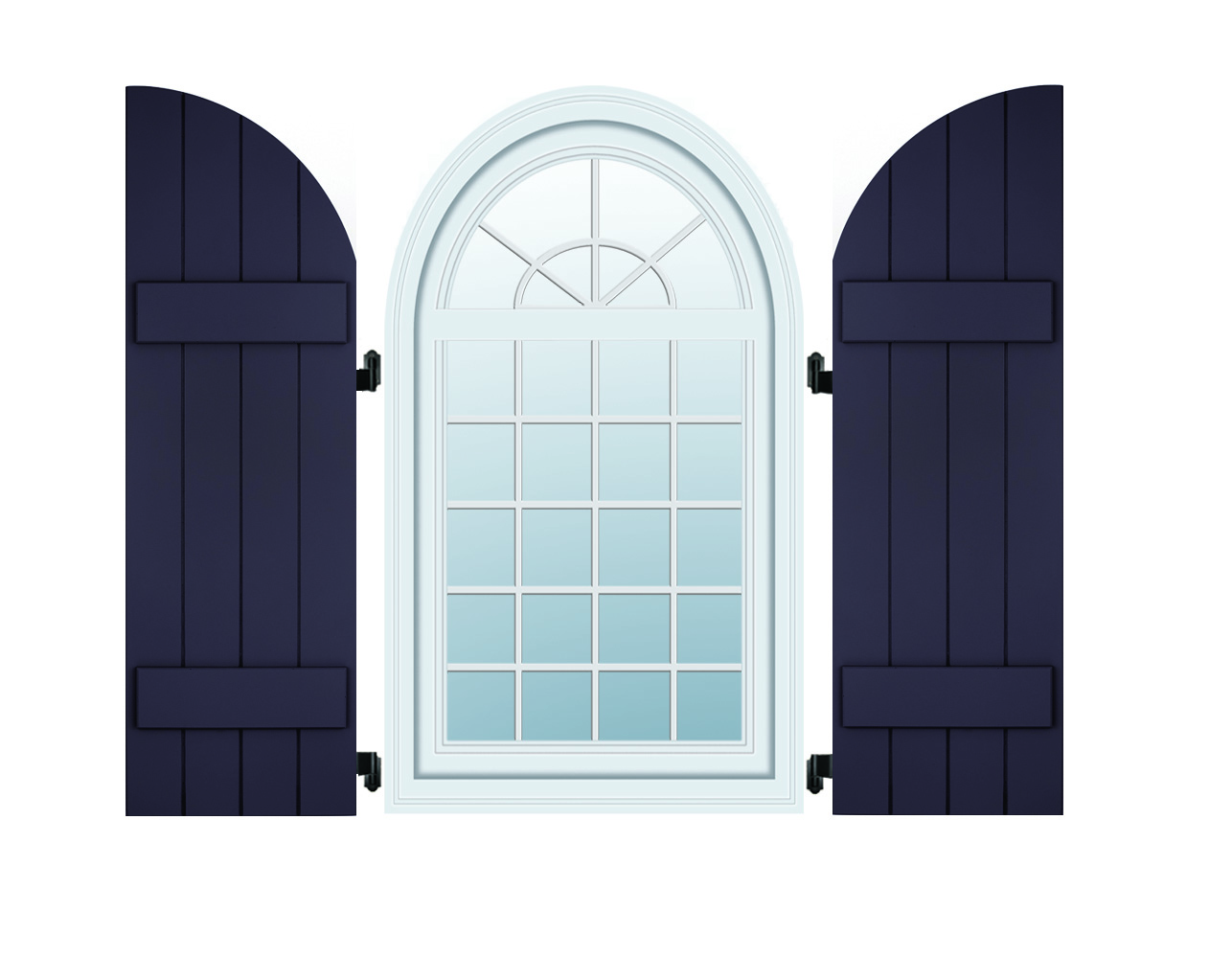 Composite Shutters - Arched Batten