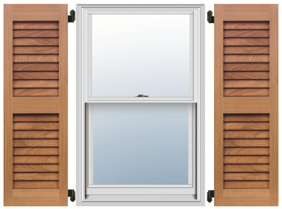 Mahogany Shutters - Even Louver
