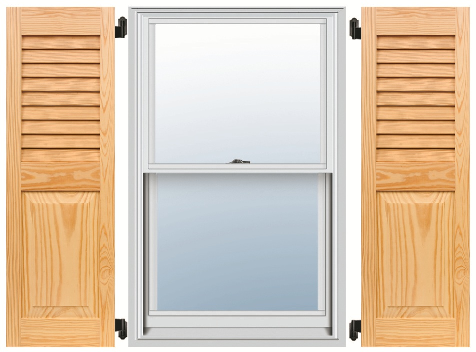 Pine Shutters - Louver-Panel Combo
