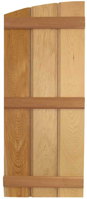 Board & Batten With Eyebrow Arch Top