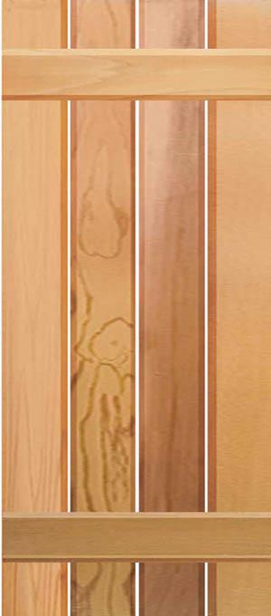 Board & Batten 4 Vertical Boards & 2 Horizontal Battens