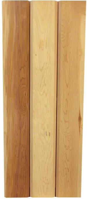 Board & Batten With 3 Vertical Boards & 2 Horizontal Battens on Reverse Side