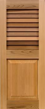 Cedar Shutters - Louver-Panel Combo