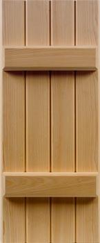 Cypress Shutters - Batten Style