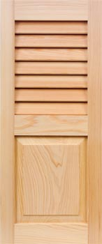 Cypress Shutters - Louver-Panel Combo