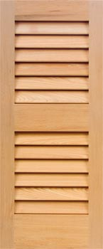 Cypress Shutters - Even Louver