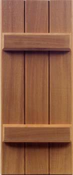 Mahogany Shutters - Batten Style