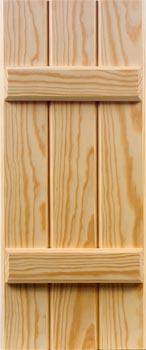 Pine Shutters - Batten Style