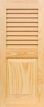 Pine Shutters - Louver-Panel Combo
