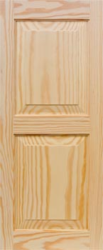 Pine Shutters - Even Panel