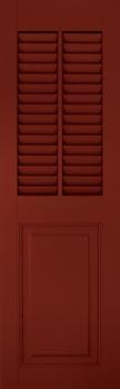 Fiberglass Shutters - Louver-Panel w/ Mullion