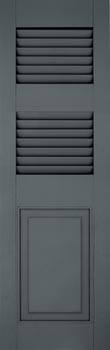 Fiberglass Shutters - Louver-Panel Extra Rail