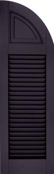Fiberglass Shutters - Louver-Panel Arched