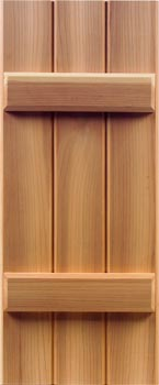Redwood Shutters - Batten Style