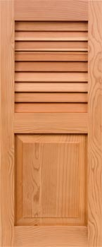 Redwood Shutters - Louver-Panel Combo