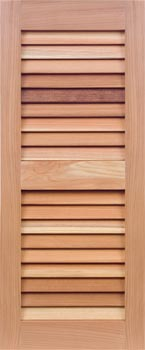 Redwood Shutters - Even Louver