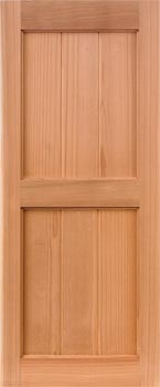 Redwood Shutters - V-Groove Style