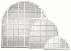 Arched Acrylic Block Shutters